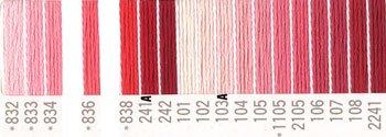 コスモ 刺繍糸セット 25番 col.832〜2241x各1束 19色セット 赤系 1