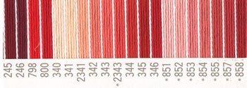 コスモ 刺繍糸セット 25番 col.245〜858x各1束 18色セット 赤系 2