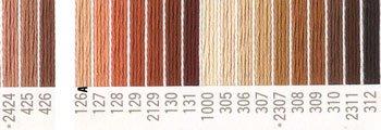 コスモ 刺繍糸セット 25番 col.2424〜312x各1束 21色セット 茶系 2