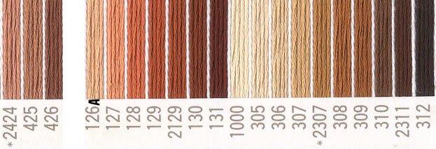 コスモ 刺繍糸セット 25番 col.2424〜312x各1束 21色セット 茶系 2 【参考画像1】
