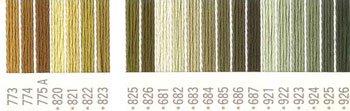 コスモ 刺繍糸セット 25番 col.773〜926x各1束 23色セット 黄色系 2