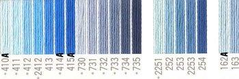 コスモ 刺繍糸セット 25番 col.410〜163x各1束 22色セット 青系 1