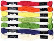 コスモ 刺繍糸セット 25番 col.410〜163x各1束 22色セット 青系 1 【参考画像2】