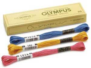 オリムパス 刺繍糸セット 25番 col.301〜344x各1束 23色セット 青・水色系 1-1 【参考画像2】