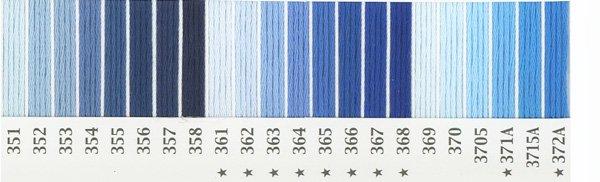 オリムパス 刺繍糸セット 25番 col.351〜372Ax各1束 22色セット 青・水色系 1-2 【参考画像1】