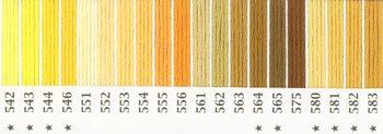 オリムパス 刺繍糸セット 25番 col.542〜583x各1束 20色セット 黄色・橙色系 1-2