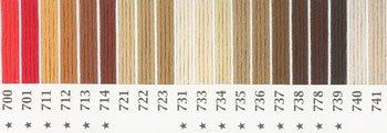 オリムパス 刺繍糸セット 25番 col.700〜741x各1束 20色セット 茶・白黒系 1-1