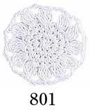 オリムパス レース糸 エミーグランデ 50g col.801 白 【参考画像1】