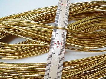 ジャスミン ラメゴム 金 太 直径約1.5mm 30m乱