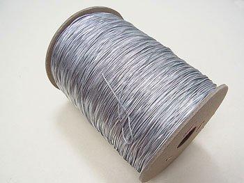 ラメゴム 極細 シルバー 銀 直径約0.9mm 大巻・ボビン巻 300m乱