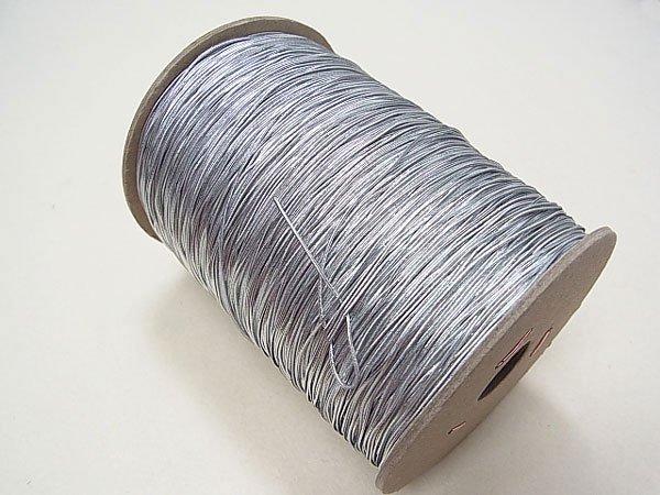 ラメゴム 極細 シルバー 銀 直径約0.9mm 大巻・ボビン巻 300m乱 【参考画像1】