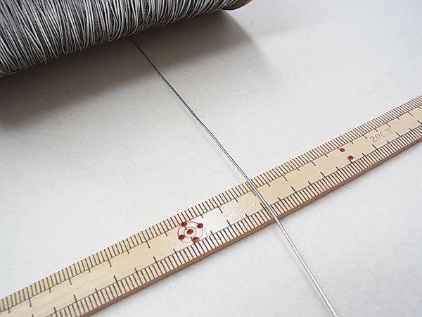 ラメゴム 極細 シルバー 銀 直径約0.9mm 大巻・ボビン巻 300m乱 【参考画像3】
