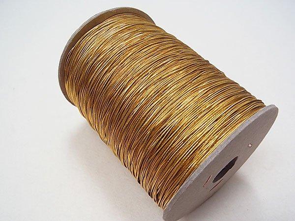 ラメゴム 極細 ゴールド 金 直径約0.9mm 大巻・ボビン巻 300m乱 【参考画像1】