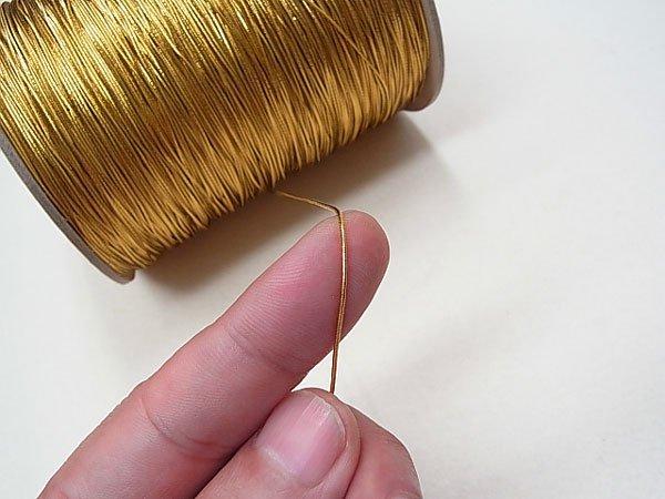 ラメゴム 極細 ゴールド 金 直径約0.9mm 大巻・ボビン巻 300m乱 【参考画像2】