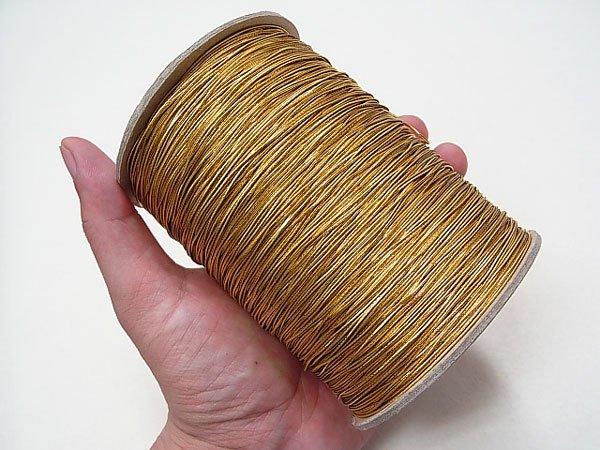 ラメゴム 極細 ゴールド 金 直径約0.9mm 大巻・ボビン巻 300m乱 【参考画像4】