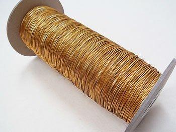 ラメゴム 細 ゴールド 金 直径約1mm 大巻・ボビン巻 300m乱