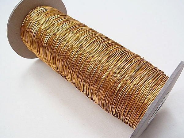 ラメゴム 細 ゴールド 金 直径約1mm 大巻・ボビン巻 300m乱 【参考画像1】