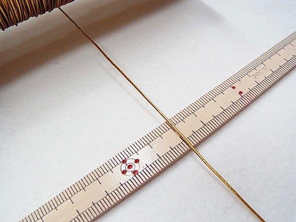 ラメゴム 細 ゴールド 金 直径約1mm 大巻・ボビン巻 300m乱 【参考画像3】