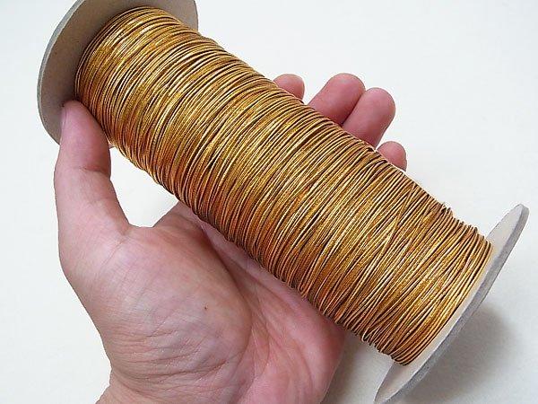 ラメゴム 細 ゴールド 金 直径約1mm 大巻・ボビン巻 300m乱 【参考画像4】