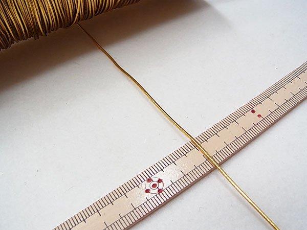 ラメゴム 中 ゴールド 金 直径約1.2mm 大巻・ボビン巻 300m乱 【参考画像3】