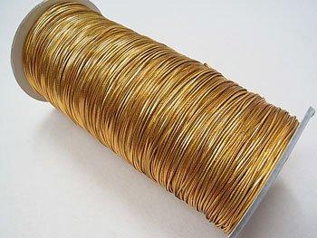 ラメゴム 中 ゴールド 金 直径約1.1mm 大巻・ボビン巻 300m乱