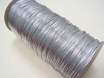 ラメゴム 太 シルバー 銀 直径約1.5mm 大巻・ボビン巻 300m乱