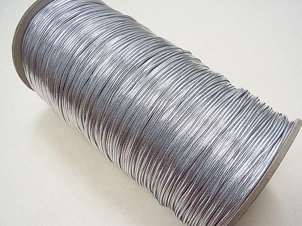 ラメゴム 太 シルバー 銀 直径約1.5mm 大巻・ボビン巻 300m乱 【参考画像1】