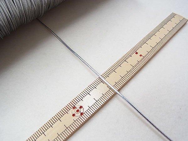 ラメゴム 太 シルバー 銀 直径約1.5mm 大巻・ボビン巻 300m乱 【参考画像3】