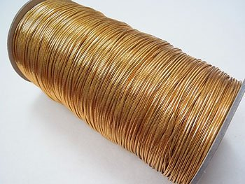 ラメゴム 太 ゴールド 金 直径約1.2mm 大巻・ボビン巻 300m乱
