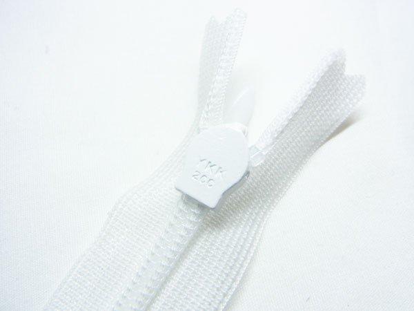YKK 2CC コンシールファスナー 22cm col.501 白 【参考画像3】