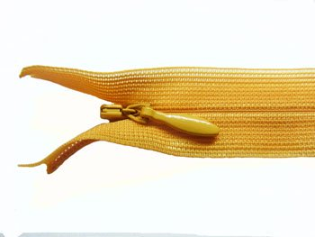 YKK 2CC コンシールファスナー 22cm col.846 橙色