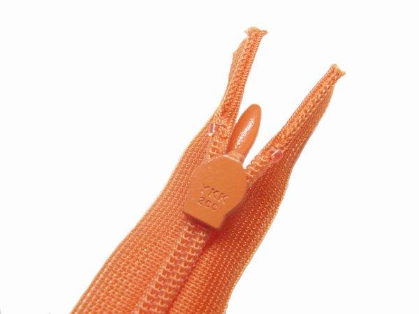 YKK 2CC コンシールファスナー 22cm col.523 オレンジ 【参考画像3】