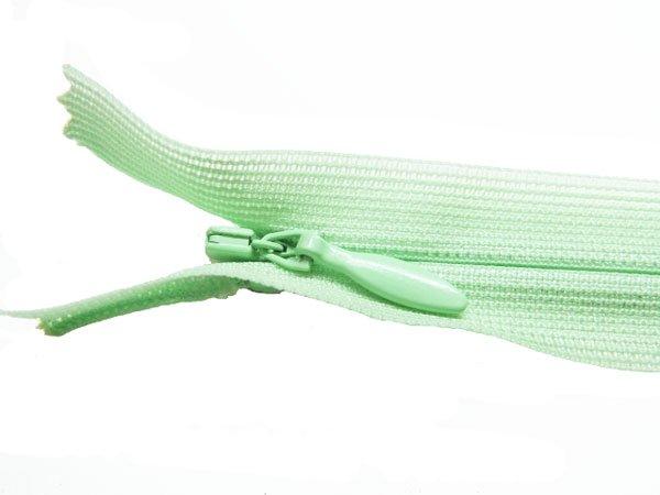 YKK 2CC コンシールファスナー 22cm col.532 薄緑 【参考画像1】