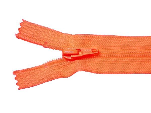 YKK 25FK フラットニットファスナー 20cm col.523 オレンジ 【参考画像1】