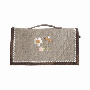 オリムパス パッチワークキット 貴重品ケース 白とピンクのお花のリース PA-540 【参考画像2】