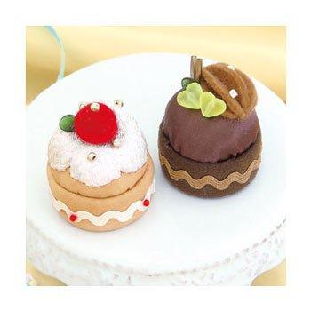 オリムパス 手芸キット いちごのケーキとチョコケーキ 新家幸枝デザイン