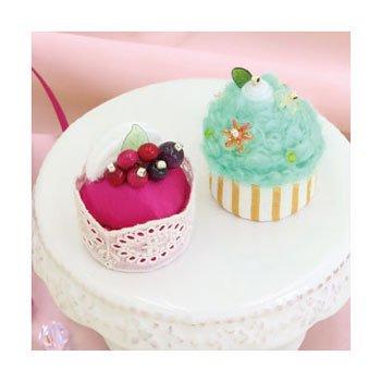 オリムパス 手芸キット ベリーのムースケーキとミントのカップケーキ 新家幸枝デザイン
