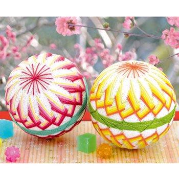 オリムパス 手まりキット 満開の桃 TM-11 桃の節句の飾りや出産のお祝いに