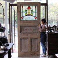 英国アンティーク ステンド ドア 扉 建材 建具 イギリス