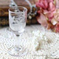 送料込!フランスアンティーク アンティークガラス グラス フランス