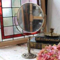 送料込!フランスアンティーク 真鍮 ミラー 拡大鏡 Mirror  フランス