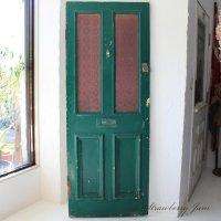 英国アンティーク ステンド ドア 呼び鈴付き 扉 建材 イギリス