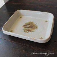 SALE!! 送料込!フランスアンティーク オーブンプレート 陶器 ブロカント