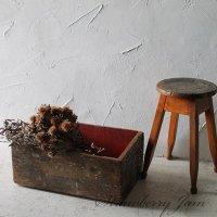 送料込!英国アンティーク  BOX   木箱   道具箱 ジャンク