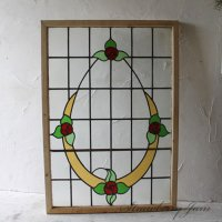 英国アンティーク 大型 ステンドグラス 窓枠 建材 イギリス