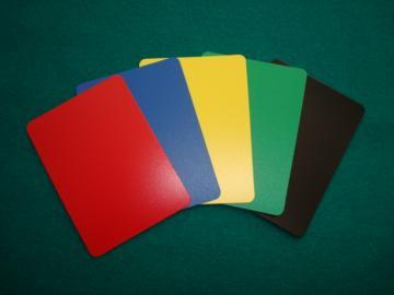 カッティング・カード (ポーカー・サイズ) 同色5枚セット
