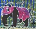 絵っ版画?!<BR>「ピンクのパンダ」(画:本村一歩)