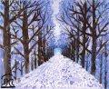 絵っ版画?!<BR>「Winter road」(画:吉岡隆介)