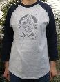 風神柄ラグランTシャツ