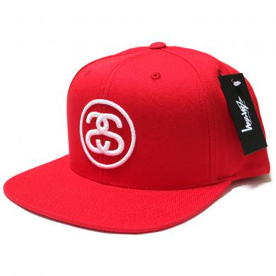 Stussy SS Link SP16 Snapback Cap (Red/White) / ステューシー SSリンク スナップバックキャップ